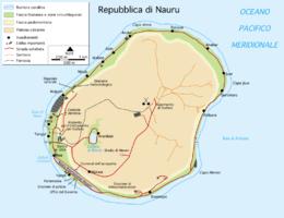 Nauru - Mappa