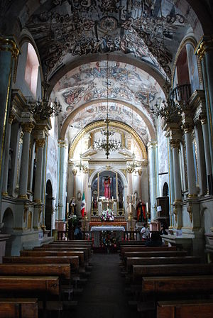 Sanctuary of Atotonilco - View of the nave of the Sanctuary of Atotonilco