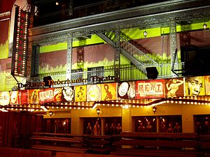Nederlander Theatre - Nederlander Theatre shown with its ''Rent'' façade