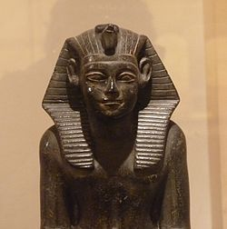 Statue of Neferhotep I from the Faiyum, Archaeological Museum of Bologna.[1]