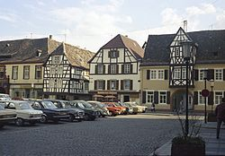 Mercat squerr in the centre o Neustadt