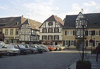 Neustadt an der Weinstraße - Market square in the centre of Neustadt