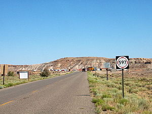 New Mexico State Road 597 - Looking towards the northern terminus