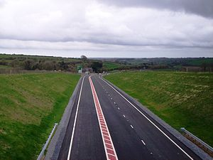 A477 road - Red Roses bypass - looking west