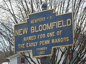 New Bloomfield, Pennsylvania - Image: New Bloomfield, PA Keystone Marker