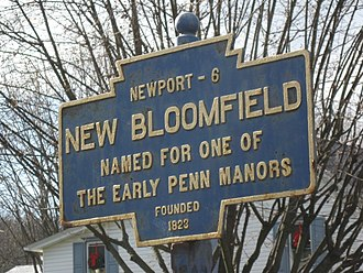 New Bloomfield, Pennsylvania - Image: New Bloomfield, PA Keystone Marker