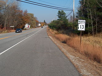 New Hampshire Route 13 - NH 13 northbound entering Concord