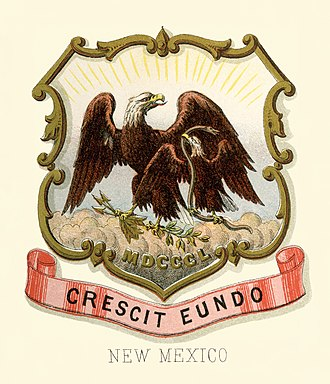 Republic of Texas - Image: New Mexico territory coat of arms (illustrated, 1876)