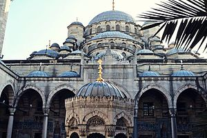 New Mosque (Istanbul) - The yard of Yeni Cami (New Mosque)