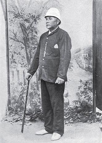 Makea Takau Ariki - Prince Consort Ngamaru Rongotini (1885).