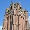 Nice brickwork tower (1450) of the church Wijk bij Duurstede. The Utrechtse Domtower was used as an example - panoramio.jpg