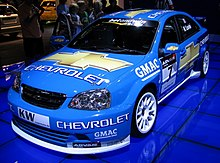 Photo d'une Chevrolet Lacetti S2000 en course.