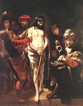 Nicolaes Maes - Image: Nicolaes Maes Christ before Pilate WGA13812