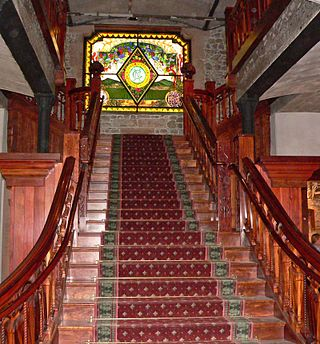 Niebaum-Coppola winery staircase