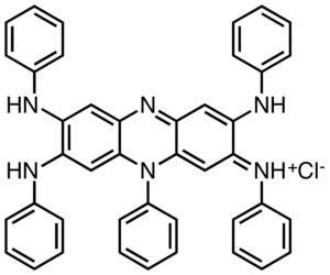Nigrosin - Structure of a major component of the dye nigrosin.