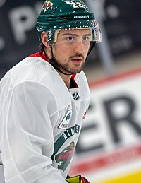 Nino Niederreiter at Minnesota Wild open practice at Tria Rink in St Paul, MN (cropped).jpg