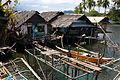 Nipa hut e bangka a Cantilan, Surigao del Sur, Filippine.jpg