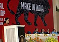 """Nirmala Sitharaman addressing at the National Workshop on """"Make in India"""", in New Delhi. The Union Minister for Finance, Corporate Affairs and Information & Broadcasting.jpg"""