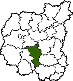 Location of Ņižinas rajons