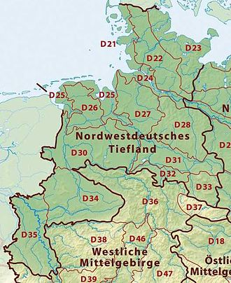 Westphalian Lowland - The Westphalian Basin (D34) within the North(west) German Plain