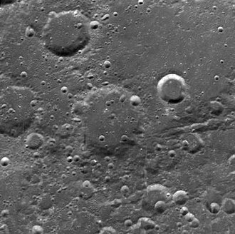 Cannizzaro (crater) - Clementine mosaic
