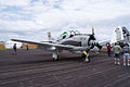 North American T-28C Trojan Sherry Berry RSideFront SNF 16April2010 (14630421435).jpg