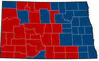 North Dakota Senate Election Results by County, 2012.png