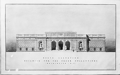 Drawing of the North Elevation