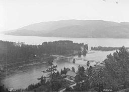 Notodden ved Tinnelvas udløb, 1892