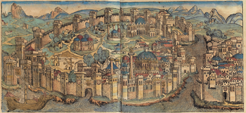 Illustration of Constantinople in Schedel's world chronicle