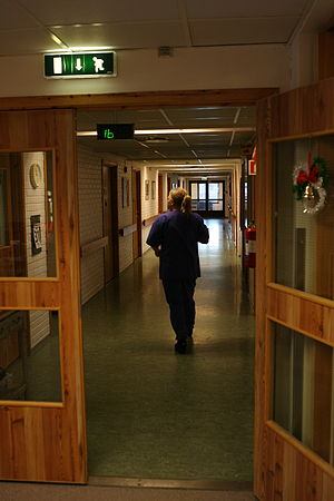 Long-term care - Nurse at a nursing home in Norway