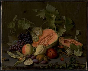 Still Life with Melons and Grapes