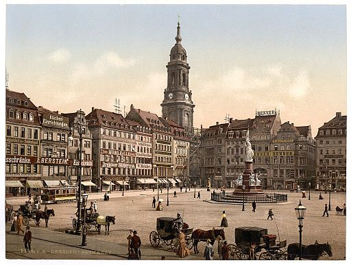 Old Market, Altstadt, Dresden, Saxony, Germany-LCCN2002720580