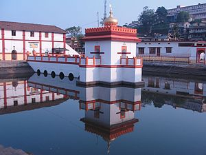 Kodagu district - Temple Pond, Onkareshwara Temple.Madikeri
