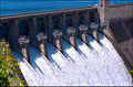 Open Floodgates - Beaver Lake Dam - Northwest Arkansas, U.S. - 21 May 2011.jpg