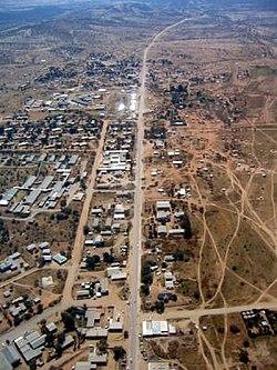 Opuwo, Kunene Region, Namibia (aerial view - 19 05 2005).jpg