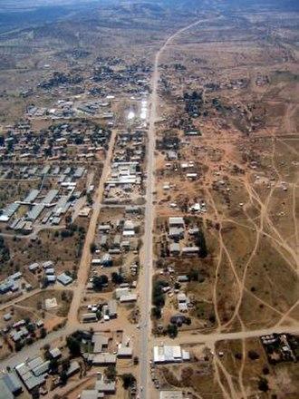 Opuwo - aerial view of Opuwo