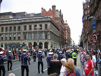 Religion in Scotland - An Orange Order march in Glasgow