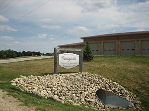 Orangeville, Illinois - Sign upon entering the village of Orangeville.