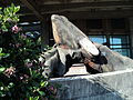 Orca carving on the Seattle waterfront Alaskan Way downtown.JPG