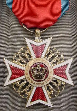 Order of the Crown (Romania) - Knight's Cross (version used before 1932)
