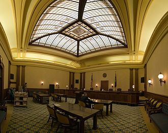 Oregon Supreme Court - Oregon Supreme Court's courtroom.