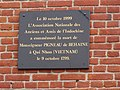 Origny-en-Thiérache (Aisne) maison natale de Mgr Behaine, plaque 2.JPG