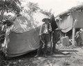 Oscar till vänster, och Sigfrid framför sitt sovtält i lägret vid Tataranda. Gran Chaco. Bolivia - SMVK - 0702.0022.tif