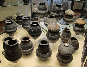 Ossuari biconici villanoviani da necropoli di casal di lanza (vulci), IX-VIII sec ac. 01