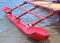 Outrigger on Hawaiian sailing canoe.png