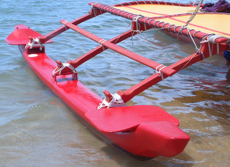 Outrigger - Outrigger on a contemporary Hawaiian sailing canoe