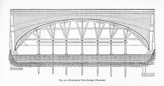 Over Bridge - Wooden centring used during its construction