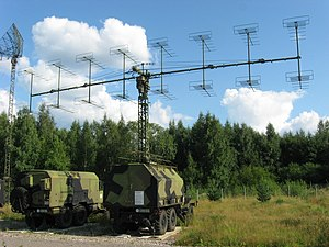 Airspace Surveillance and Control Command (Lithuania) - Image: P 18 radar main antenna