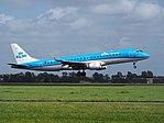PH-EZM KLM Cityhopper Embraer ERJ-190STD (ERJ-190-100) landing at Schiphol (EHAM-AMS) runway 18R pic2.JPG